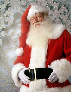 Santa Claus and snow flakes