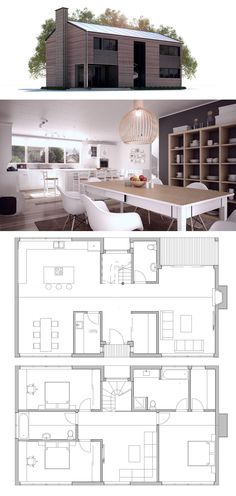 Plan de maison plans de maisons pinterest - Plan de maison simple ...