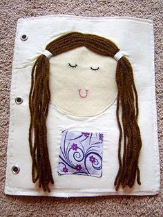 Cute hair-braiding quiet book page. :)