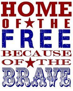 20 patriotic printables - Memorial Day, of July