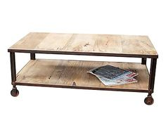 Table basse ARISTODES, naturel et marron - L60