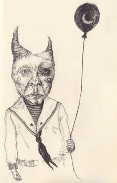 The Boy on Halloween Night, Devil costume - the little demon by Leigh Anita