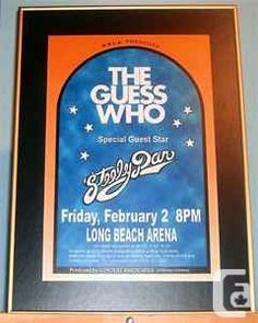 The Guess Who - Steely Dan 1973 Rock Posters, Band Posters, Music Posters, Concert Posters, Burton Cummings, The Guess Who, Flying Saucer, Popular Music, Classic Rock