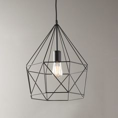 Young House Love Geometric Diamond Lantern bronze