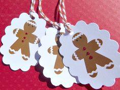 Christmas Tags - Holiday Tags - Gingerbread Men Gift Tags - Gingerbread Man Tags - GBMGT1