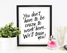 Cubicle Decor Printable - Office Wall Art - Funny Office Signs - Work Decor…