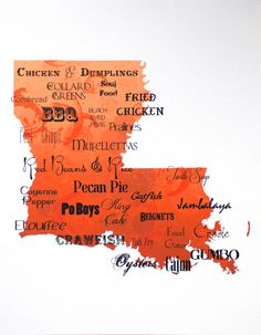 Best of Louisiana Cuisine Word Art