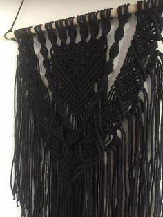 Macrame wall hanging/ macrame wandkleed/ zwart/ wandhanger/
