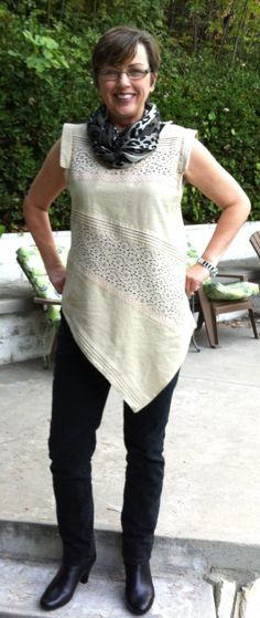 Refashioned Top from a Skirt