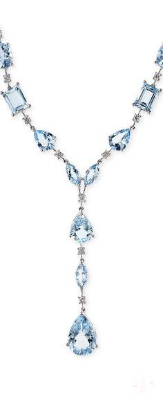Aquarius by Effy aquamarine and diamond necklace.