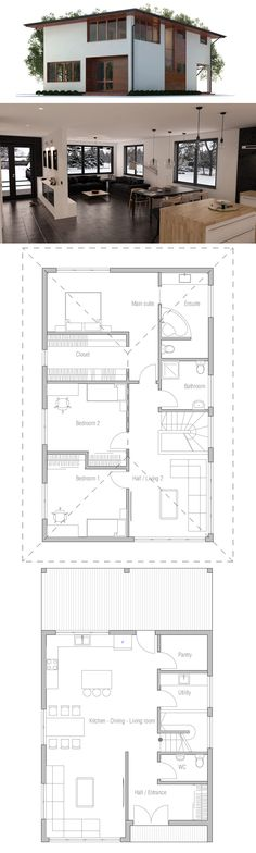 Home Plans,House Plans Narrow House Plans, Dream House Plans, House Floor Plans, Brook House, Pole Barn Homes, Modern Farmhouse Exterior, House Blueprints, Modern Architecture House, House Layouts