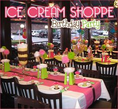 ice cream shoppe theme