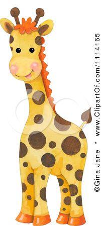 Free Baby Animal Clip Art | Clipart Cute Baby Giraffe - Royalty Free Illustration by Gina Jane ...