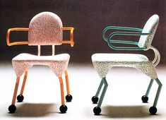 Masanori Umeda (b. is a Japanese designer and contributor to Memphis Milano. Memphis Design, Unique Furniture, Furniture Design, Memphis Furniture, Bauhaus, Graffiti Furniture, Memphis Milano, Unique House Design, Boutique Interior