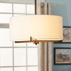 Bronze 3 light semi flush mount