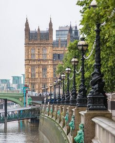 Westminster Palace Along The Thames, London