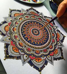 Magnificent Mandala Designs by MoslehUK based artist Asmahan A. Mosleh's loves intricate mandala designs and it is evident in all of her creations.[[MORE]] The artist seeks inspiration from temples, mosques and exotic architecture from all across the. Mandala Drawing, Mandala Painting, Mandala Artwork, Watercolor Mandala, Mandala Tattoo, Watercolor Tattoo, Poster Design, Design Art, Creative Design