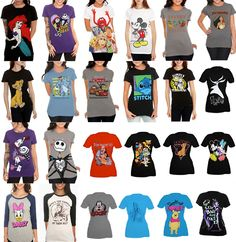 Hot Topic Disney T-shirts. Really want the one with stich on it or better yet if they made stich skirts