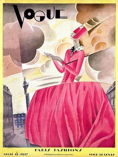 Vogue Cover - April 1927 by: william bolin