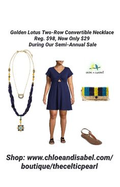 Today's Featured Item: Golden Lotus Two-Row Convertible Necklace Reg. $98, Now Only $29 During Our Semi-Annual Sale Shop: https://www.chloeandisabel.com/boutique/thecelticpearl/products/N531TUAG/golden-lotus-two-row-convertible-necklace #Daily #love #SemiAnnual #Sale #Save #Deals #Discounts #India #Lotus #Necklace #Convertible #2in1 #semiprecious #turquoise #sodalite #marigold #jade #jonquil #crystals #antique #gold #jewelry #fashion #accessories #style #shopping #shop #thecelticpearl #OOTD