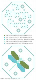free dragonfly fob - Cross Stitch Happy:                                                                                                                                                                                 More