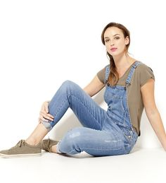 Ogrodniczki jeansowe Salopette Jeans, Pulls, Overalls, My Style, Fashion, Women's Overalls, Woman Clothing, Skirt, Moda