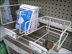 Plug-in Top Mount Bar Tray in Wire Bar Tray, Magazine Rack, Hooks, Plugs, Literature, Channel, Stationery, Wire, Storage