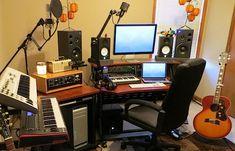 home recording studio with macbook pro