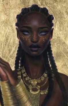 art sets Surreal Art afrofuturism Afropunk favourite artists Sara Golish sara k. Black Girl Art, Black Women Art, Black Art, Black Girls, African American Art, African Art, African Beauty, Character Portraits, Character Art