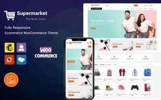 SuperMarket - Multipurpose Responsive WooCommerce Theme #98741 Website Design Layout, Website Design Inspiration, Web Layout, Layout Design, Design Ideas, Learn Web Design, Creative Web Design, Best Website Templates, Supermarket Design