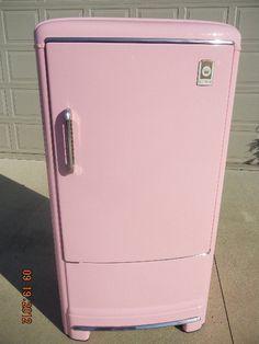 1950s Pink Fridge Refrigerator Mid Century Modern Retro Eames Era Vtg Old Stove | eBay