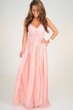RESTOCK: Wherever Love Goes Dress: Light Pink $43.99