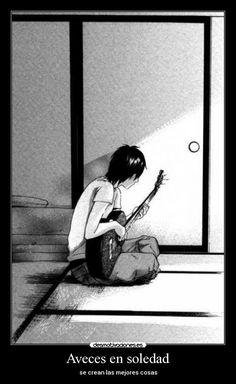 carteles soledad anime manga soledad musica estan malo estar solo desmotivaciones