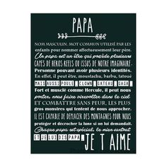 Affiche Papa Gifts For Father, Fathers Day, Flylady, Mother And Father, Man Birthday, Diy Photo, First Baby, Diy Cards, True Stories