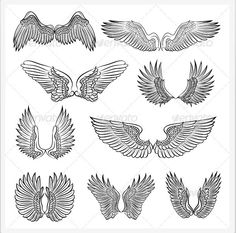 Here are some vector files of wings. Any one of these could be easily incorporated into a logo.