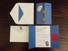 Paddington Bear Raincoat Party Invitation Set by MAsheeDelights