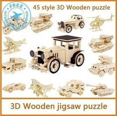 3d wooden puzzle Educational Toys for kids children 45 Style(China (Mainland))