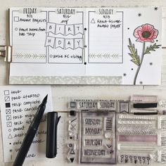 Bullet Journal by Heather Nichols for Papertrey Ink (August 2017)