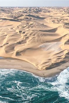 Namibia desert pounded by ocean waves
