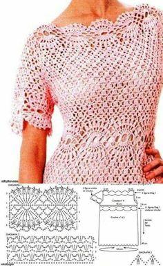 Fabulous Crochet a Little Black Crochet Dress Ideas. Georgeous Crochet a Little Black Crochet Dress Ideas. Débardeurs Au Crochet, Mode Crochet, Crochet Woman, Easy Crochet, Black Crochet Dress, Crochet Skirts, Crochet Cardigan Pattern, Crochet Blouse, Crochet Patterns