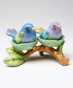 Look what I found on #zulily! Bird Nest Salt & Pepper Shaker & Votive Holder #zulilyfinds