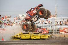 Monster Truck Show at Monroe County Fair 2011. Photo by Bryan Bosch for The Monroe Evening News.