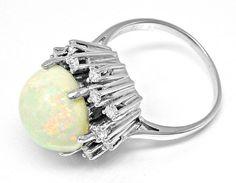 Foto 3, Neu! Brillant-Ring Traum-Riesen-Opal!! Weissgold Luxus!, S8712