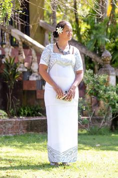 Another beautiful white puletasi for Mother's Day from Samoa Lokostyle