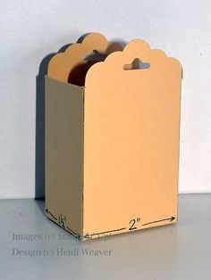 Stampin Along With Heidi: Scalloped Tag Topper punch---making the box!  Picture Tutorial in post.