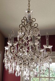 a pretty chandelier to make it feel fit for a princess