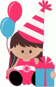 Silhouette Design Store - View Design birthday girl sitting with present Happy Birthday Clip Art, Birthday Party Images, Birthday Clips, Happy Birthday Girls, Art Birthday, Birthday Gifts, Silhouette Online Store, Cute Clipart, Happy B Day