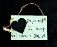 """Baby (Expecting) Chalkboard Countdown - """"Weeks Until ... Our Bump Becomes A Baby!"""" Baby shower gift, countdown the days to baby arrives!  $16.00 USD"""