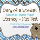 "This literacy mini unit goes along with Jackie French's ""Diary of a Wombat"" Activities include: *Several choices of book covers for class books *2 ..."