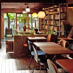 Café Bibliotic Hello! in Kyoto, Japan